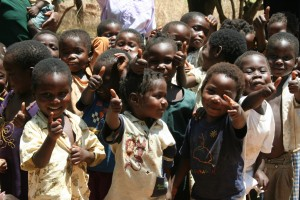 Pre-school children in Malawi