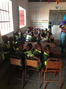children in class at Favour Preparatory nursery school 2013