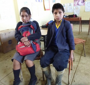 Peruvian children supported by TiC